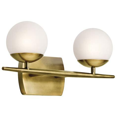 bathroom lighting fixtures kichler 45581nbr jasper modern brass halogen 2