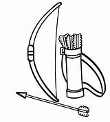 Bow Indian Archery Coloring sketch template