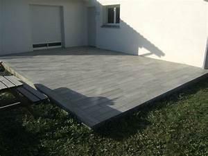 terrasse carrelage imitation plancher terrasse pinterest With carrelage terrasse imitation bois