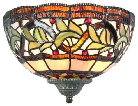 stained glass wall sconce indoor wall lights