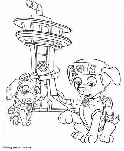 Paw Patrol Coloring Pages Chase Printable Zuma