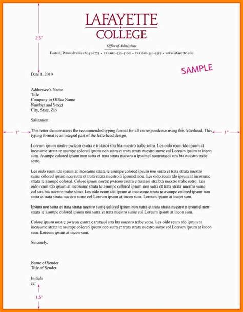 business letter format  letterhead apparel dream