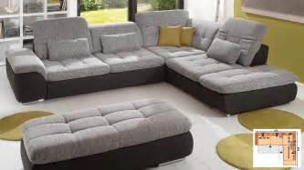 sofa mit verstellbarer sitztiefe megapol imago wohnlandschaft mit schlaffunktion schlafsofa ecksofa ebay