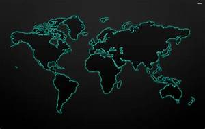 Twitter Wallpaper 1024x768 71504 Glowing World Map