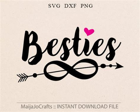 Besties Svg Dxf Png Files For Cutting Machines Cameo Or