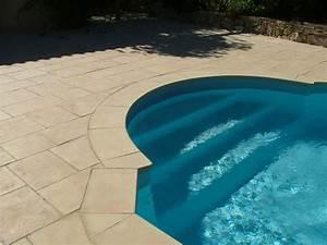 Margelle Pour Piscine : margelle piscine pierre reconstitu e 38x30x2 5cm ocre nuanc courbe ~ Melissatoandfro.com Idées de Décoration