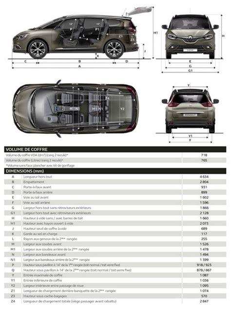 taille siege auto renault scénic 4 les fiches techniques et les dimensions