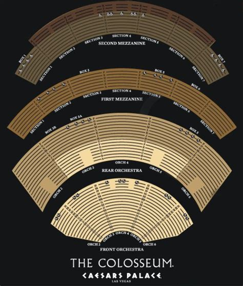 colosseum  caesars palace seating chart home  colosseum  caesars palace holidays
