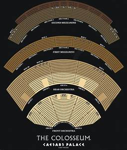 Ceasars Palace Seating Chart The Colosseum At Caesars Palace Seating Chart Home The