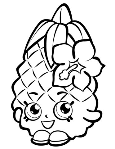 Pineapple Crush Shopkin coloring page Free Printable