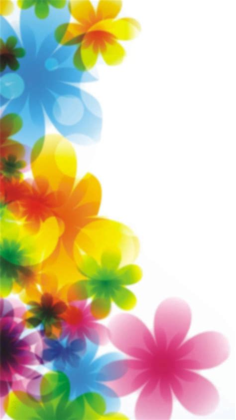 colorful floral print iPhone wallpaper