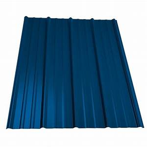 metal sales 12 ft classic rib steel roof panel in ocean With 20 ft corrugated metal roofing