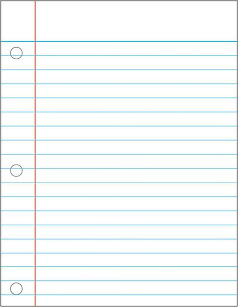Notebook Paper Template 7 Best Images Of Notebook Paper Printable Pdf Wide Ruled