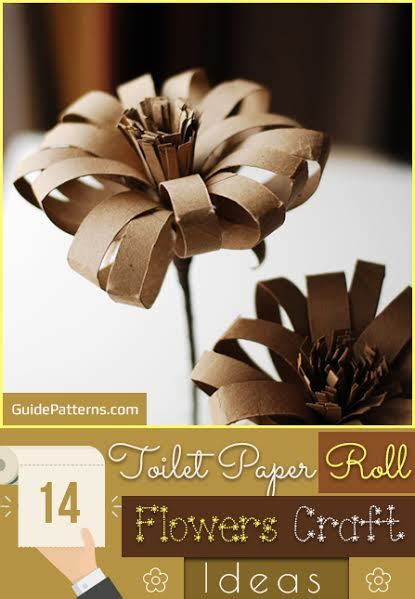 toilet paper roll flowers craft ideas guide patterns