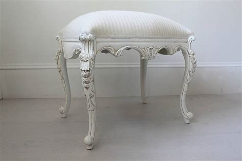 white dressing table stool by out there interiors