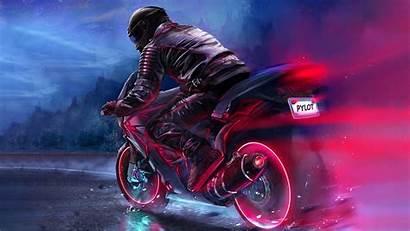 4k Bike Retro Rider Wallpapers Biker Retrowave