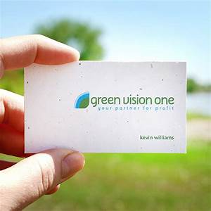 Single sided plantable business cards plantable seed for Seed business cards