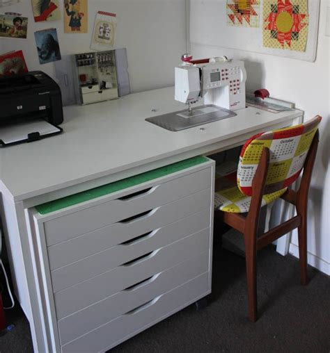 ikea sewing table cheeky cognoscenti fabulous diy sewing cabinet badskirt s ikea hack