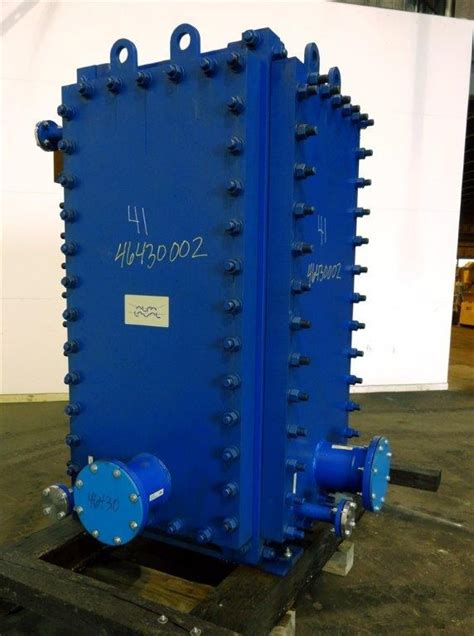 4 foot lava l 2063 sq ft alfa laval 316l ss compabloc exchanger 9199