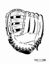 Baseball Coloring Mitt Hats Helmet Gear Batter sketch template