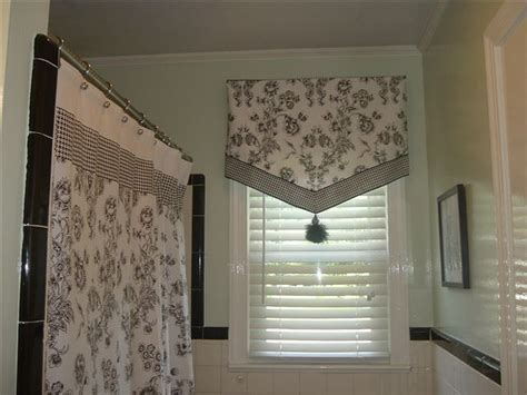 bathroom curtain ideas idea for bay window in master bathroom surrounding