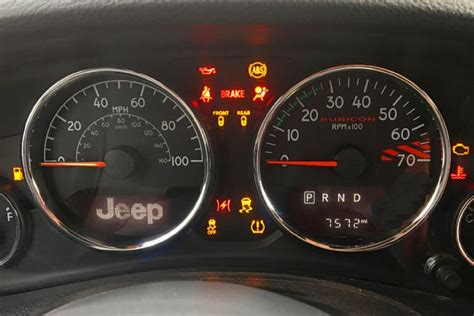 jeep cherokee dashboard those warning lights say a lot about your jeep jk forum