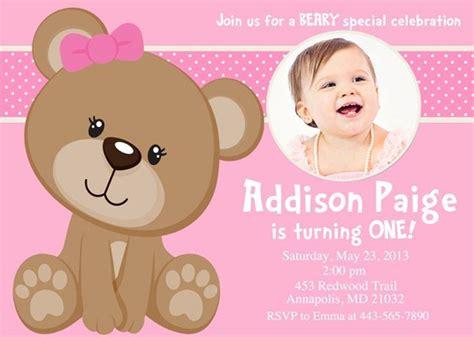 pink teddy bear birthday invitations  printable
