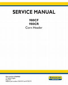 New Holland Corn Header 980cf And 980cr Service Manual Pdf