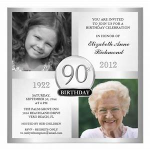 silver 90th birthday invitations then now photos 525 With 90th birthday invites templates