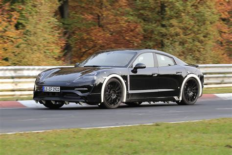 porsche mission e porsche mission e spotted testing at the nurburgring