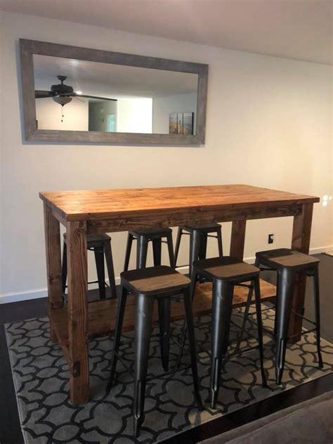 ana white farmhouse style bar table san diego diy