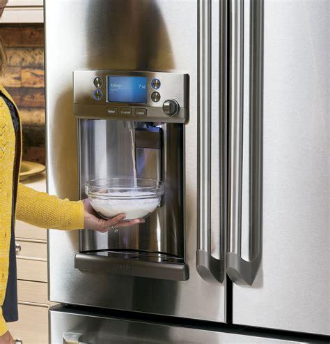 cyeushss ge cafe   cu ft counter depth refrigerator keurig  cup stainless steel