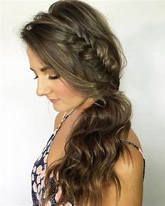 Prom Hairstyles Side Curls With Braid - HairStyles