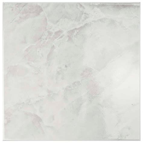 white glass floor merola tile gamma white 11 3 4 in x 11 3 4 in ceramic floor and wall tile 11 sq ft case