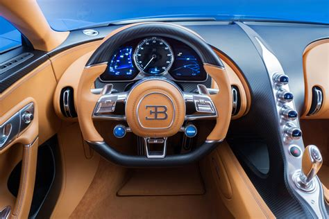 bugatti chiron interior steering wheel car body design