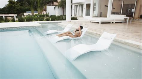 in water pool furniture ledge lounger