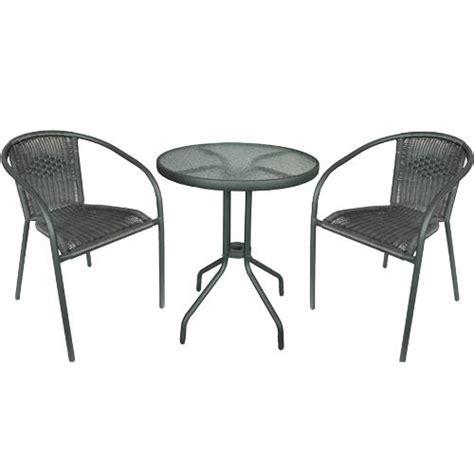 doral designs bistrobundle bistro patio table and 2 wicker
