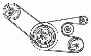 2000 Chrysler Sebring Belt  Accessory Drive  Conditioning  Air  Sensitive
