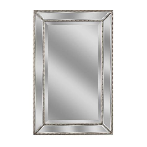 X On Bathroom Mirror by Allen Roth 20 In X 32 In Silver Beveled Rectangle Framed
