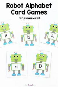 robot alphabet card games and activities With learn your letters game