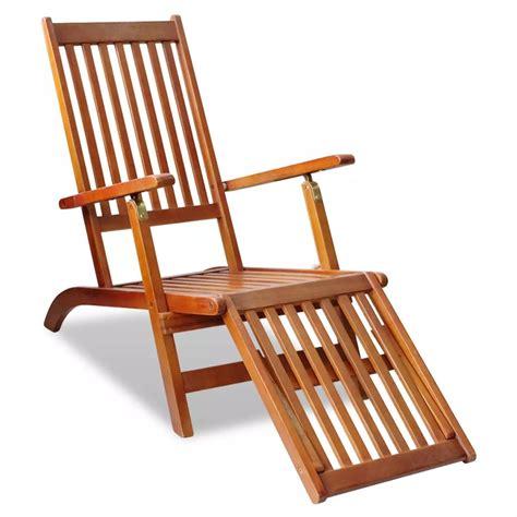 chaise d extérieur acheter chaise longue d 39 extérieur en acacia avec repose