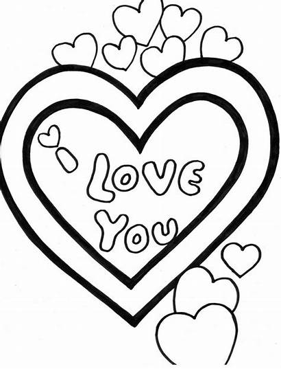 Valentine Coloring Pages Valentines Printable Sheets Cards