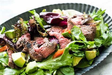 easy steak salad  lemon vinaigrette recipe