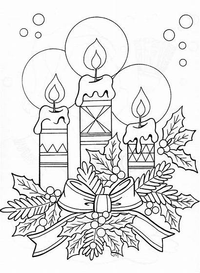 Coloring Colouring Candle Printable Candles Drawing Sheets