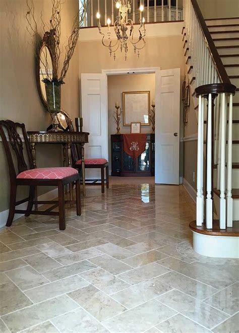 kitchen entryway ideas stunning entryway with crema cappuccino polished 6x12 tile