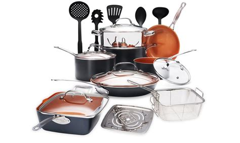gotham steel  piece  stick cookware set groupon