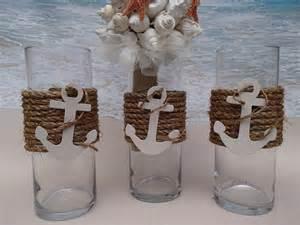 floating candle centerpiece ideas set of 3 nautical vase centerpieces anchor by paradisebridal