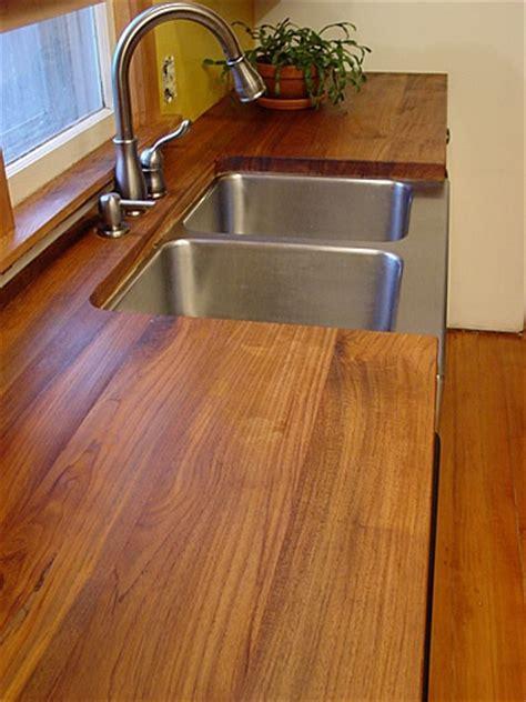 teak countertops teak countertop kitchen creating pinterest