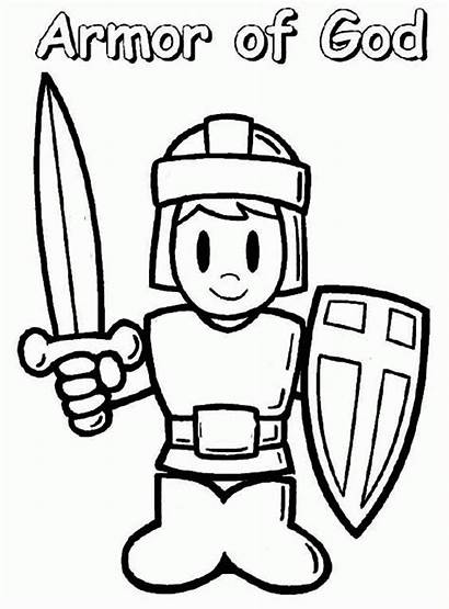 God Coloring Pages Armor Bible Greek Lesson