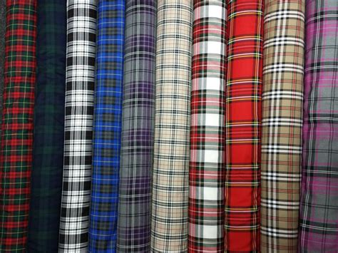 plaid drapery fabric tartan plaid check craft quilting designer curtain
